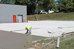 parking lot being finished