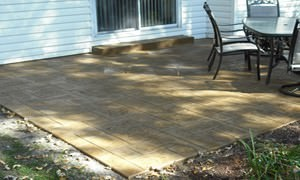 Stamped, Colored Decorative Concrete