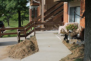 wheelchair ramp to apartment